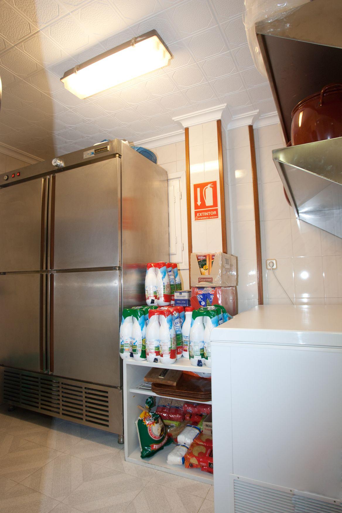 cocina de la escuela donde se preparan comidas caseras